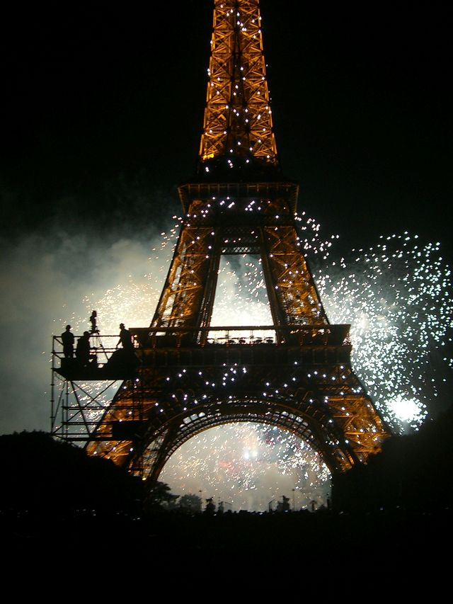 Eiffel tower on National Day